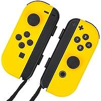 Nintendo Switch ジョイコン 用 スキンシール 選べるカラー スターイエロー カバー シール ケース 高級素材 側面対応 丈夫で長持ち 保護 高級感のある手触り 簡単に貼り付け可能 ニンテンドースイッチ (スターイエロー)