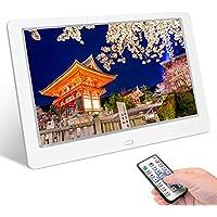 Tenswall デジタルフォトフレーム 10.1インチ 1280 * 800高解像度 IPS広視野角 液晶 写真10倍まで拡大可能/90°~360°回転可能/USBメモリー/SDカードは32GBまで対応/写真音楽動画再生/カレンダー/アラーム/自動オンオフ/タイマー/リモコン付き 良いギフト 日本語取扱説明書※正規品 PSE認証済み