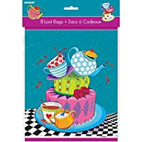 (Party Bags) - Mad Hatters Tea Party Bags, Pack of 8