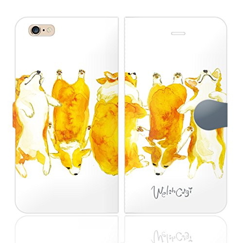 iPhone6SPlus iPhone6Plus 手帳型 ケース カバー コーギー 犬 dog アニ...