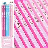 名入れ 三菱鉛筆 かきかた鉛筆 ユニパレット B パステルピンク 1ダース K5561B