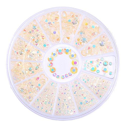 BORN PRETTY ミックスラインストーンスタッド 3Dネイルデコ用 ミックス2mm/3mm/4mm 3Dネイルデコレーションネイルアート 1 ボックス