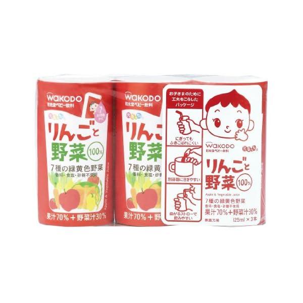 元気っち! りんごと野菜 125ml×18本の商品画像