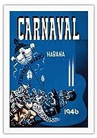 カーニバル・デ・ラ・ハバナ1946 - ハバナ、キューバ - 2月3月 - ビンテージな広告ポスター によって作成された エンリク・キャラヴィア・モンテネグロ c.1946 - 美しいポスターアート
