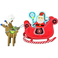 Big Mo's Toys Holiday Crafts - Christmas Foam Arts N Craft Santa Riding A Reindeer Sleigh Table Top Decorations Kit for Kids [並行輸入品]