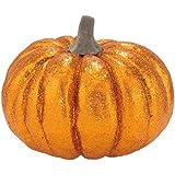 シャインパンプキン(グリッター)(DE1422)[シャインパンプキン カボチャ パンプキン ディスプレイ 置物 キラキラ グリッター ハロウィン デコレーション 装飾 飾り かぼちゃ]