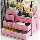 Amazon.co.jpメイクボックス コスメボックス ジュエリー ボックス アクセサリー ケース 自分組み立て式 収納 雑貨 小物入れ 化粧道具入れ 化粧品収納 便利 (ピンク)
