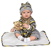 SanyDoll Rebornベビー人形ソフトSilicone 22インチ55 cm磁気Lovely Lifelike Cute Lovely Baby b0763lk9 K2