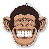 2 x 10cm 中イキな猿 - ノートPCやタブレット用ビニールステッカー #6695