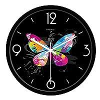 FaCaia パストラルヨーロッパのリビングルームの静かなクォーツ時計モダンなベッドルームクリエイティブ大型壁掛け時計(10インチ、12インチ、14インチ) Sold only in FaCaia (Color : A, Size : 12 inches)