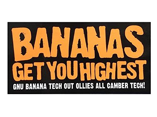 GNU(グヌー)ステッカー BANANAS GET YOU HIGHEST