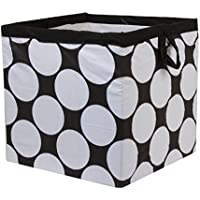 Bacati 2 Pieces Storage Tote Basket, Black/White, Small by Bacati