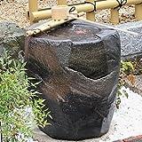 信楽焼 紫香楽 湧き水つくばい 電動つくばい 水琴窟つくばい 陶器かけひ 蹲 循環式つくばい ウォーターオブジェ dt-0004