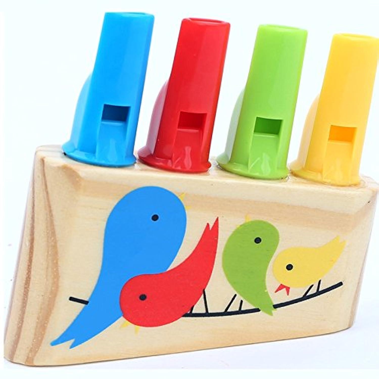 cynkenレインボーPanpipe木製おもちゃ鳥笛ミュージカル教育子供プレゼント