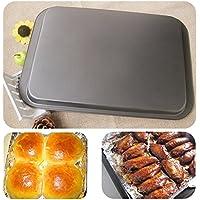 Simonshop 焙焼パンを焼く14インチのノンスティッククッキーパン炭素鋼の耐熱皿にパンのチーズ (ブラック)