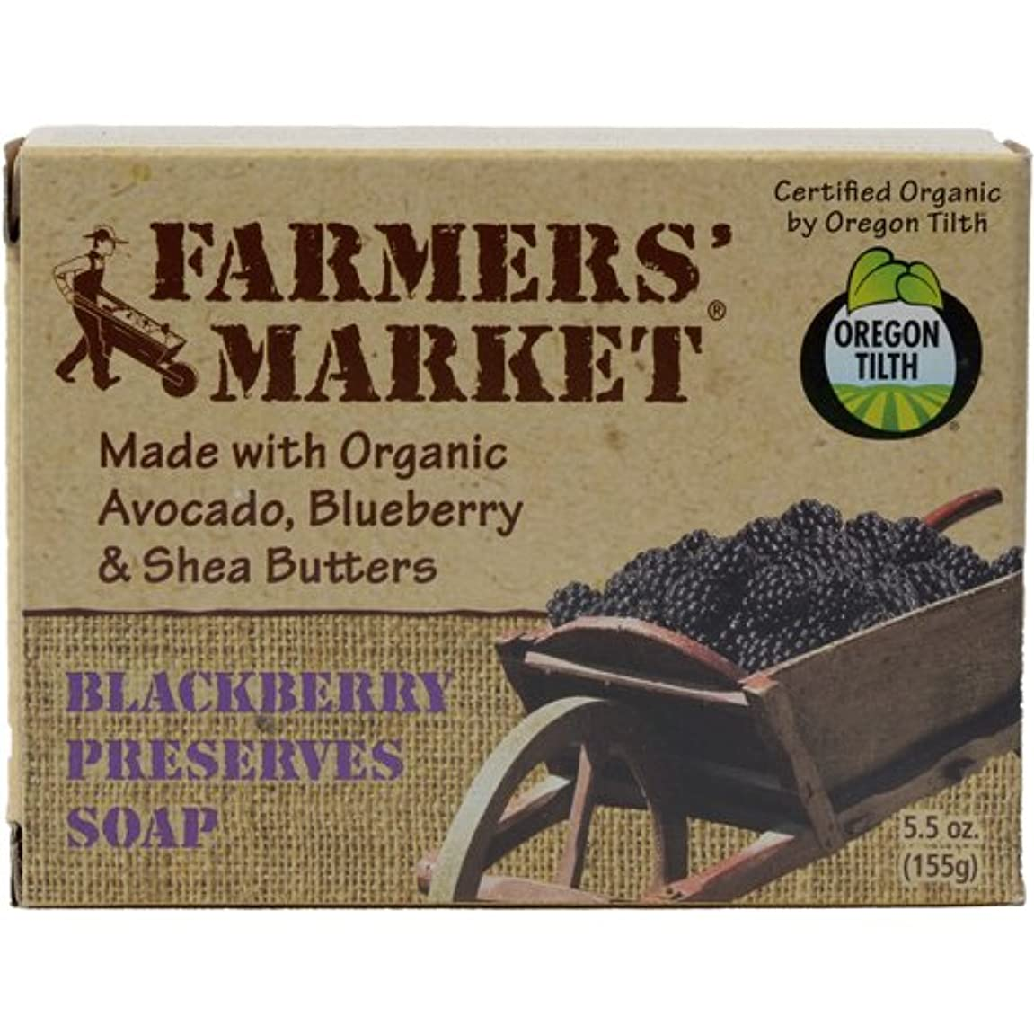 考えたセント動Natural Bar Soap Blackberry Preserves - 5.5 oz by Farmer's Market