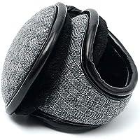 DHINGM Knit Foldable Winter Earmuffs, Warm Earmuffs Men's Winter Earmuffs Warm Men's Ear Bag Winter Folding Plush Thickening Earmuffs Ear Warmer