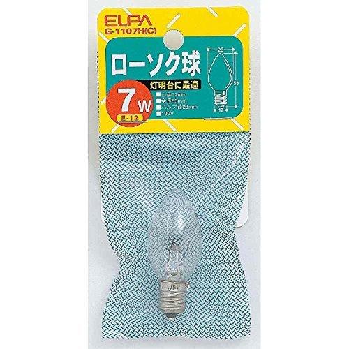 ELPA ローソク球 朝日電器 【品番】G-1107H(C)