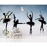 Wuyyii モダンなミニマリストの3D写真ダンスルームバレエヨガスタジオ壁画壁紙ヘルスケアマッサージファッションツーリング壁C-280X200Cm