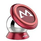 Mpow 車載ホルダー スマホスタンド マグネット式 スマホ カーマウント ダッシュボードに取り付け 360度回転 強い磁力 片手操作 iPhone X/8 Plus/8/7 Plus/7/Sony/Samsung 多機種対応 【18ヶ月国内保障】 レッド