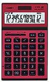 カシオ 実務電卓 12桁 レッド ジャスト・スリムタイプ CASIO(カシオ) JS-201SK-RD-N