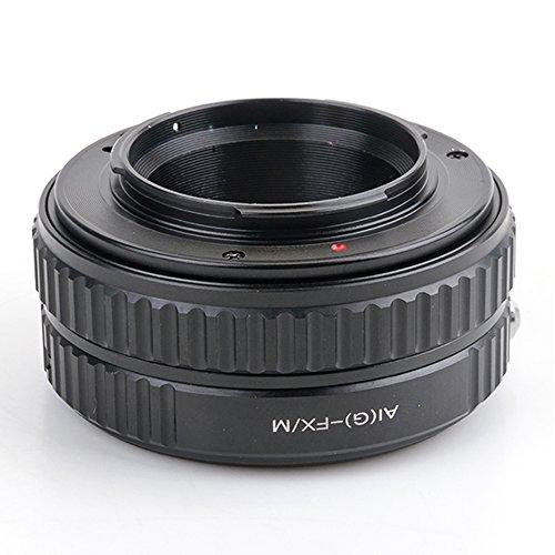 (バシュポ) Pixco ヘリコイド付きマウントアダプター Nikon G レンズ-Fujifilm X-Pro2 X-E2S X-T10 X-T1IR X-A2 X-T1 X-A1 カメラ対応 ー「Nikon G-FX/M」マクロヘリコイド機能付き