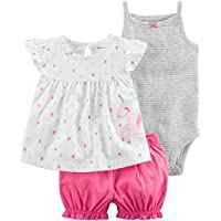 Carter's Baby Girls' Diaper Cover Set Multi Embroidery