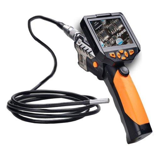 CrazyFire 多機能内視鏡 防水内視鏡  マイクロスコープ ファイバースコープ ボアスコープ 3.5インチ液晶モニター付き 8.2MMレンズ 5Mホース LEDライト6灯付き スネークカメラ