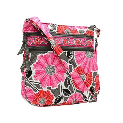 (ヴェラ・ブラッドリー) Vera Bradley バッグ BAG Triple Zip Hipster 斜めがけショルダーバッグ Cheery Blossoms コットンキルティング 13942-170 ブランド 並行輸入品