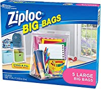 Ziploc Big Bag Large Double Zipper - 5 ct - 2 pk by Ziploc