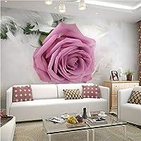 Jason Ming カスタム写真の壁紙ヨーロッパスタイルのロマンチックな花の3D壁画の結婚部屋の寝室のリビングルームの不織布プリント壁紙の3D-150X120Cm