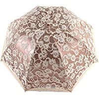 Orgrimmar Ladies Lace Parasol Umbrella Anti-UV Protection Sun Shade UPF 50+ Lightweight and Portable Folding Umbrella (Black)