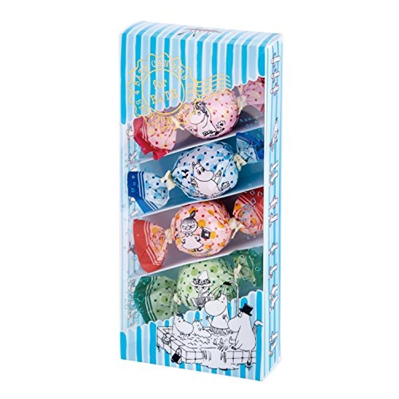 マーベル委任する教育するムーミン バスキャンディー4粒セット 楽しいお風呂の日