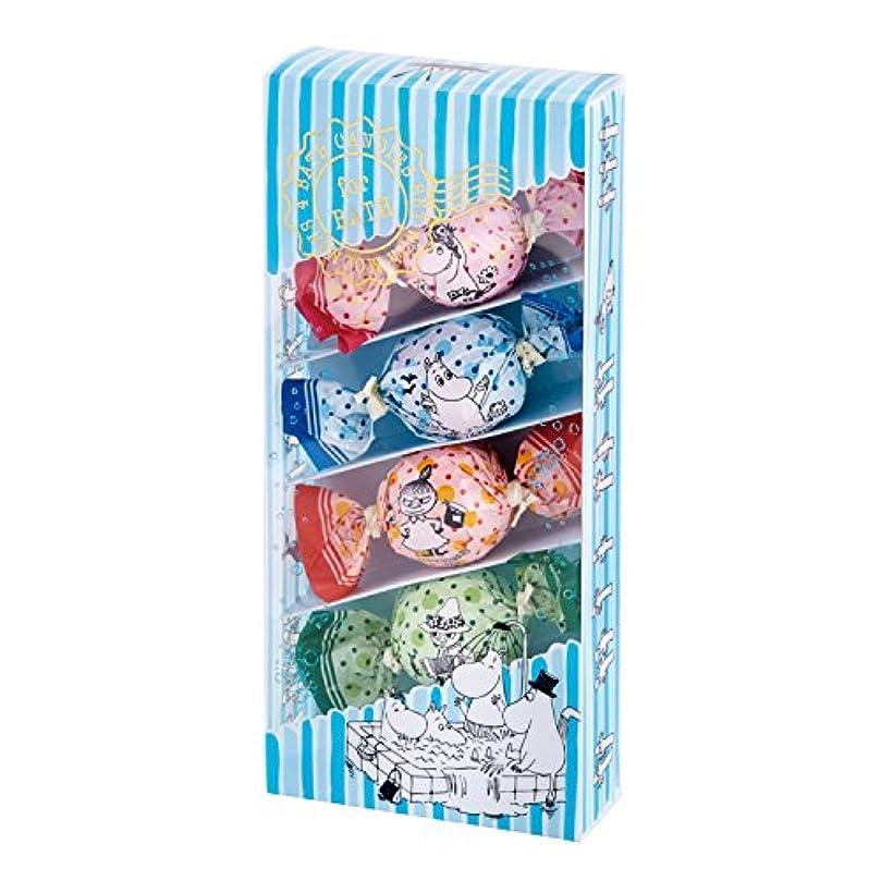 素敵な特異な買い手ムーミン バスキャンディー4粒セット 楽しいお風呂の日