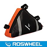 ROSWHEEL ロスホイール自転車 サイクリング用  フレームバッグ トライアングルバッグ 全2色 (オレンジ)