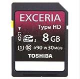 東芝 SDHC EXCERIA 8GB Class10 TYPE HD UHS-I R90 海外パッケージ品 Toshiba 並行輸入品 [PC]