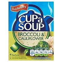 (Batchelors) カップスープブロッコリー・カリフラワー4×25グラム (x6) - Batchelors Cup a Soup Broccoli & Cauliflower 4 x 25g (Pack of 6) [並行輸入品]