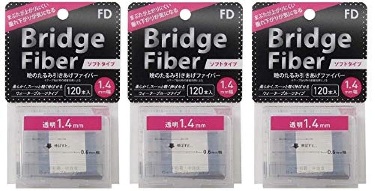 堀聞きますラッシュFD ブリッジソフトファイバー 眼瞼下垂防止テープ ソフトタイプ 透明1.4mm幅 【120本入り×3個セット】