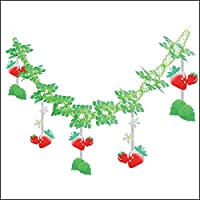 イチゴ装飾 いちごグリーンガーランド L180cm / 飾り 装飾 ディスプレイ 春 23516