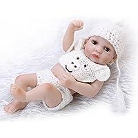 Nicery 人形 Babyリボーンベビードールハードシリコーンビニール10インチの26センチメートル防水玩具ホワイトボーイ Reborn Dolls JP