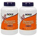 [海外直送品]2本セット Now Foods 社 (アメリカ製)グルコサミン&コンドロイチン・プラス・MSM