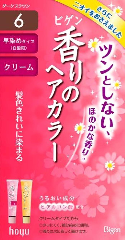 ホーユー ビゲン 香りのヘアカラー クリーム 6 (ダークブラウン) 40g+40g