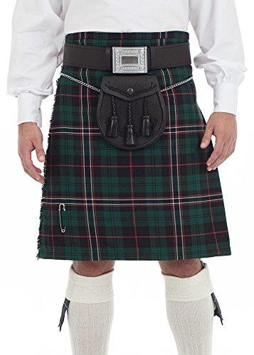 Kilt Societyメンズ8ヤードキルトスコットランド国立Tartan US サイズ: 34 カラー: グリーン