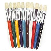Flat Handle Brushes 10/Set