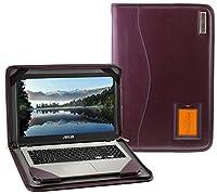 Broonel - Contour Series - パープルレザーケース用 ASUS Laptop X507UA