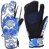 Eboxer 手袋 サイクルグローブ グローブ 衝撃吸収 滑り止め 防寒 防水 スキー 耐磨耗性 通気性 秋 冬用 全6色 男女兼用 暖かい