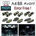 アウディ Audi A4 S4 B8/S4 8K アバント LED 室内灯 ルームランプ ( 039 12.4~) 16カ所 キャンセラー内蔵 パーフェクトセット 6000K