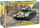 ズベズダ 1/35 ソ連軍 T-34/85 ソビエト中戦車 プラモデル ZV3687