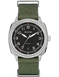 ブローバ Bulova Men's 96B229 Analog Display Japanese Quartz Green Watch [並行輸入品]
