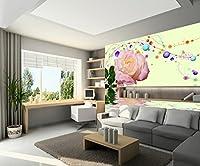 Sproud 美しいローズカスタム 3D Papel De Parede 使用量の背景 400 Cmx 280 Cm としてリビングルーム 3 D 壁紙 3 D ウォールペーパーの大きな壁画が